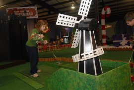 Three-Hole Mini-Golf Course